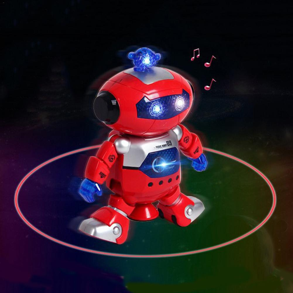 Electronic Toy Electronic Robot Support Astronaut Walking Dance 360 Degrees Rotation Light Music