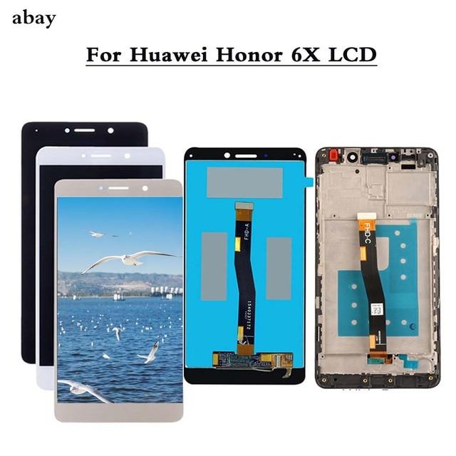 新しい Lcd ディスプレイ Huawei 社の名誉 6X BLN L24 BLN AL10 BLN L21 BLN L22 ため GR5 2017 スクリーンデジタイザアセンブリの修理部品
