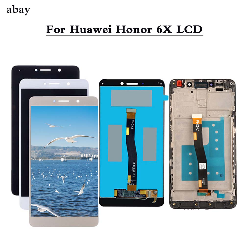New LCD Display For Huawei Honor 6X BLN-L24 BLN-AL10 BLN-L21 BLN-L22 Touch Screen For GR5 2017 Digitizer Assembly Repair Parts