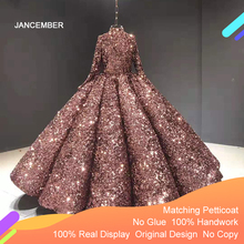 J66991 Jancember Red Quinceanera Dresses 2020 High Neck Ball Gowns Sequined Vestidos Debutantes 15 Sweet 16 Party платья на бал