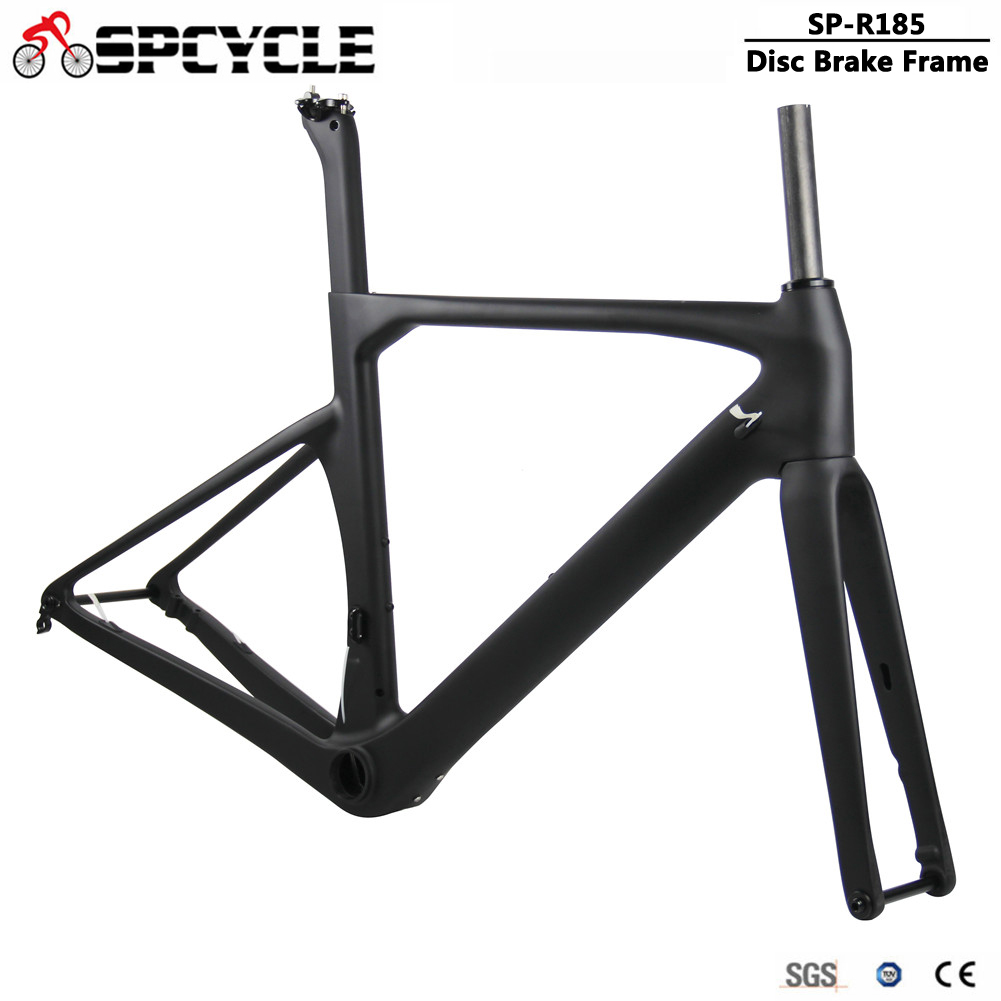 Spccyle Aero Carbon Road Frame Flat Mount Disc Brake Road Bicycle Carbon Frame With Headset BB386 Max Tire 700*28C Thru Axle|Bicycle Frame| |  - title=