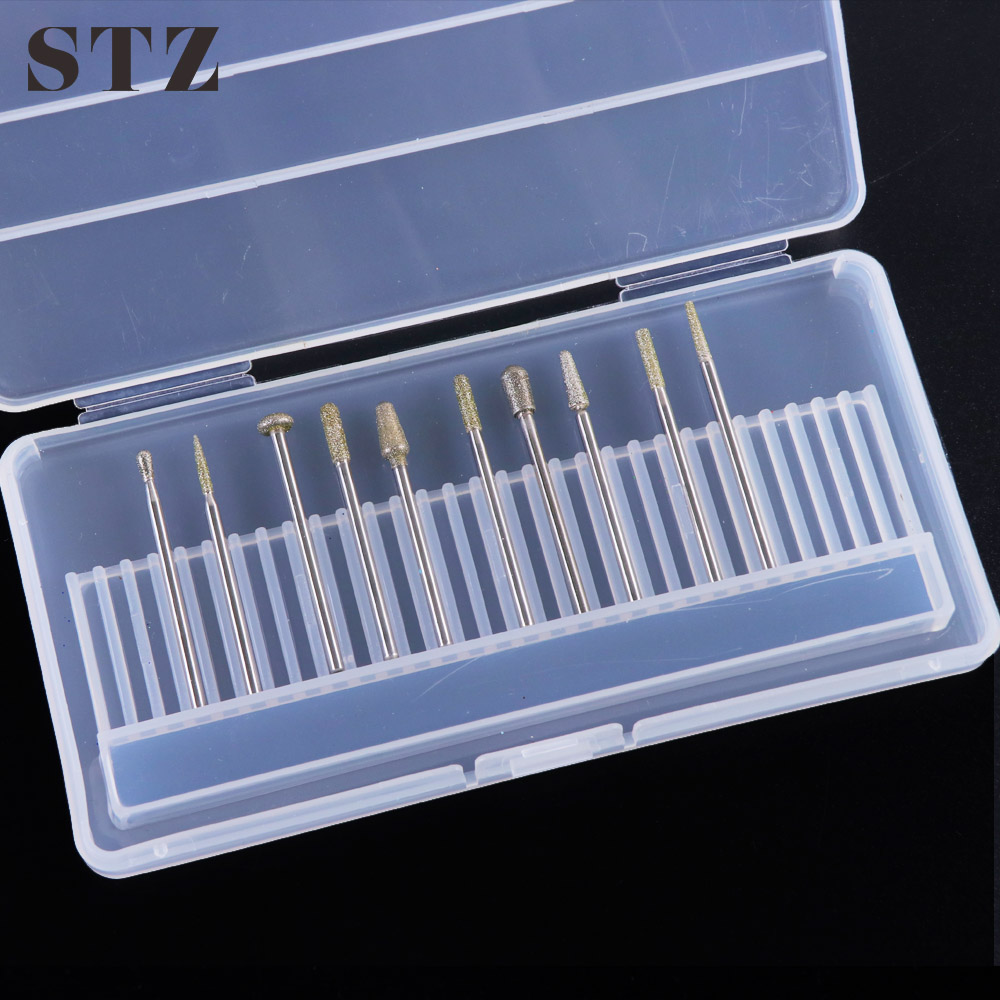 STZ 30 Holes Storage Box Nail Drill Bits Container Holder Display Organizer Case Cutters Acrylic Manicure Accessories Tool B5