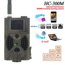 HC-300M avcılık kamera su geçirmez GSM 12MP 1080P fotoğraf tuzakları gece görüş yaban hayatı kızılötesi avcılık Trail kameralar orman kamera
