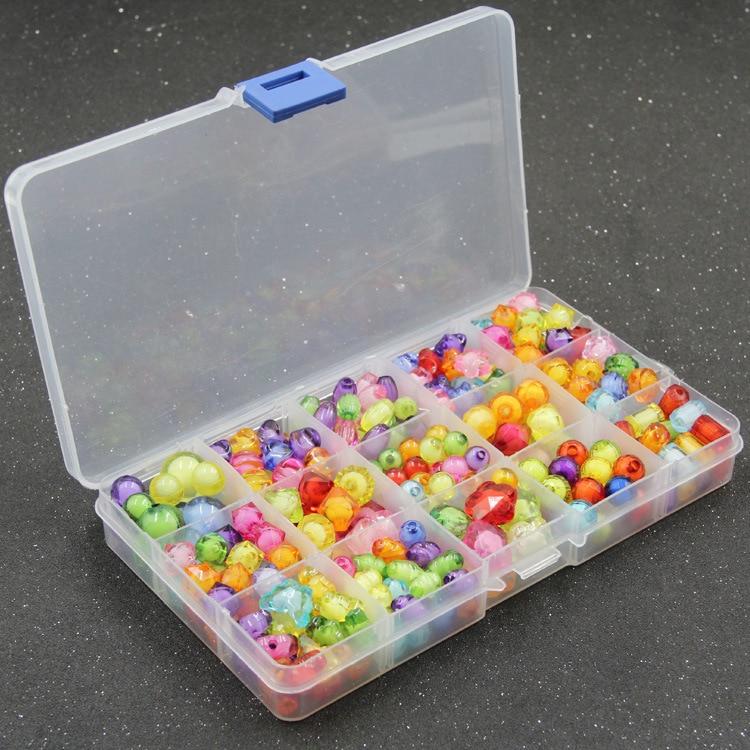 CHILDREN'S Ornaments Handmade DIY 15 Lattice Gift Box Loose Beads Weak Sight Training Educational Toy