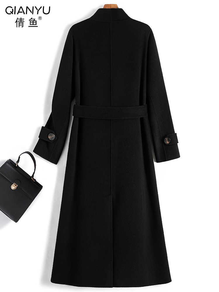 2019 marca casaco de inverno feminino casaco de lã quente feminino outono longo cashmere casacos moda outwear hiver 19167