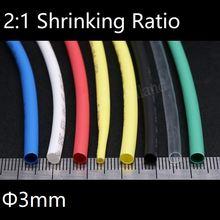 Диаметр 3 мм термоусадочная трубка 2:1 Полиолефиновая термотрубка