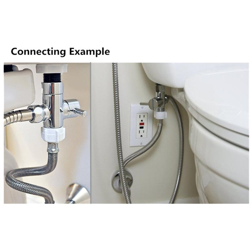 "Diverter T adapter Diverting Valve 3-way Tee Connector for Bidet Sprayer7//8"" 1//2"