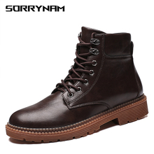 Mens Boots 2019 Newest Winter British Trend Martin Retro Tide Tooling Shoes Fashion Male