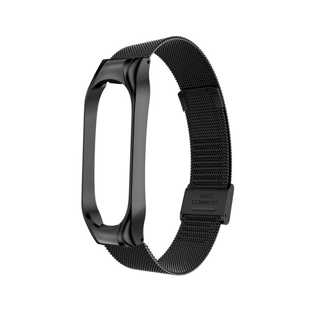 Metal Strap for Xiaomi Mi Band 4 3 5 Wrist Band Bracelet Screwless Stainless Steel Replacement Miband for Mi Band 4 3 Wristbands