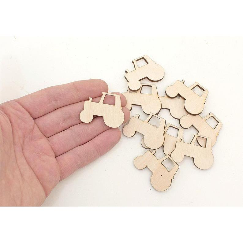 Wooden 3mm MDF Tractor Great For Crafts Etc Laser cut