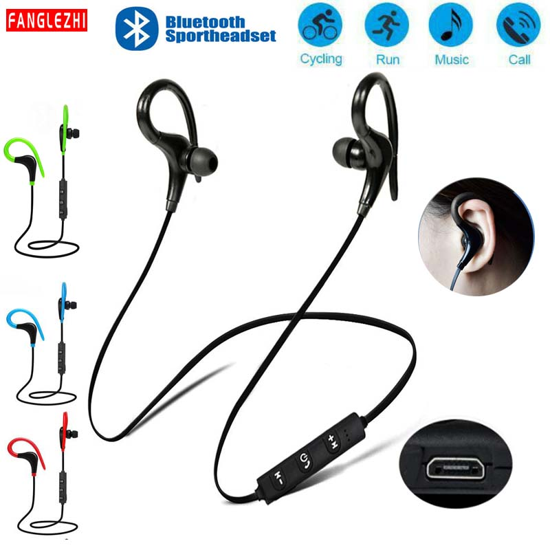 Ear Phones <font><b>Bluetooth</b></font> Wireless Neckband <font><b>Earphones</b></font> <font><b>With</b></font> <font><b>Microphone</b></font> <font><b>Bluetooth</b></font> Headphones Sport For Samsung Xiaomi For Smartphones image