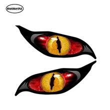 HotMeiNi 13 см x 5 см автомобильный Стайлинг Желтый Красный Злой Глаз Zombie автомобильный стикер каждый глаз Rc самолет Водонепроницаемая наклейка н...