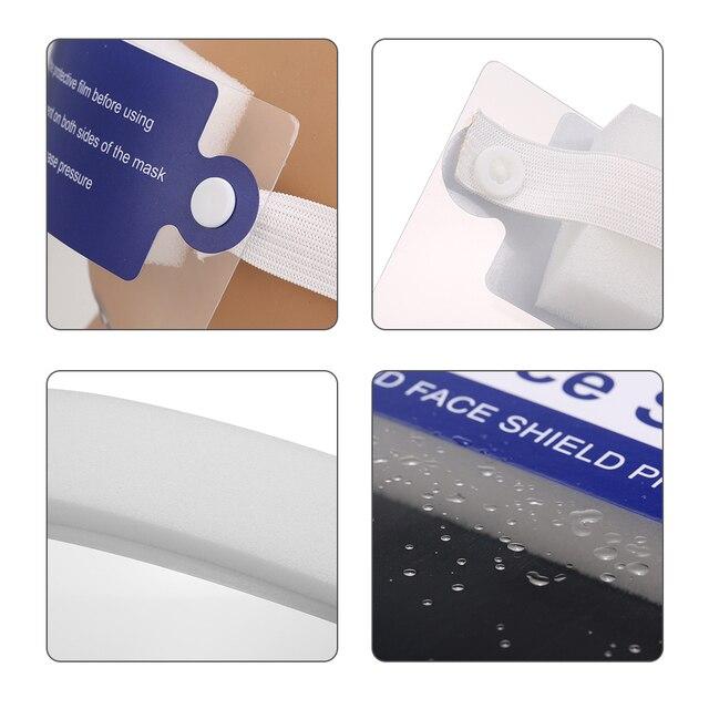 20pcs Transparent Protective Mask Full Face Shield Masks Particulate Respirator Hat Mask Saliva Transmission transparent Masks 3