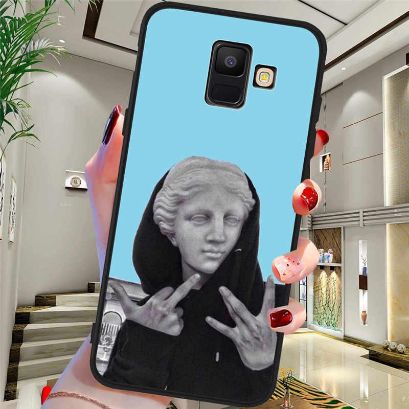 รูปปั้นบทคัดย่อสำหรับ Samsung Galaxy A9 A8 A7 A6 A5 A3 J3 J4 J5 J6 J8 Plus 2017 2018 m30 A40S A10 A20E โทรศัพท์