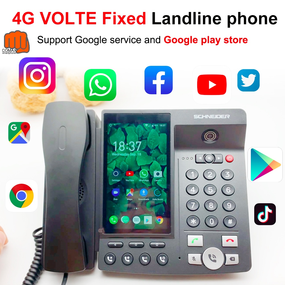 4G VOLTE landline Wireless Big Screen Android 7.0 Google play store Global version Phone multi-Language Smart Phone