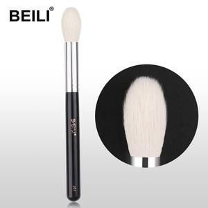 Image 1 - ביילי J01 טבעי עיזים שיער אבקת סומק מברשת להדגיש פלאפי בינוני גודל אחת איפור מברשת