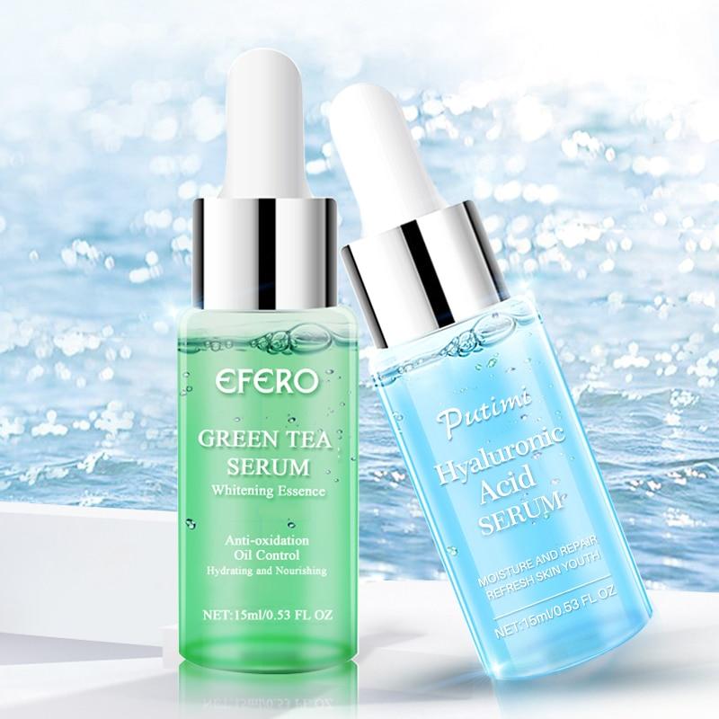 EFERO Hyaluronic Acid Serum Green Tea Essence Face Cream Moisturizing Treatment Skin Care Repair Whitening AntiAnging Winkles
