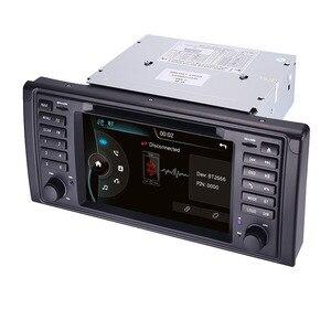 Image 5 - الأصلي UI 1 الدين مشغل أسطوانات للسيارة لاعب لسيارات BMW X5 E39 GPS بلوتوث راديو USB SD عجلة القيادة التحكم خريطة الكاميرا