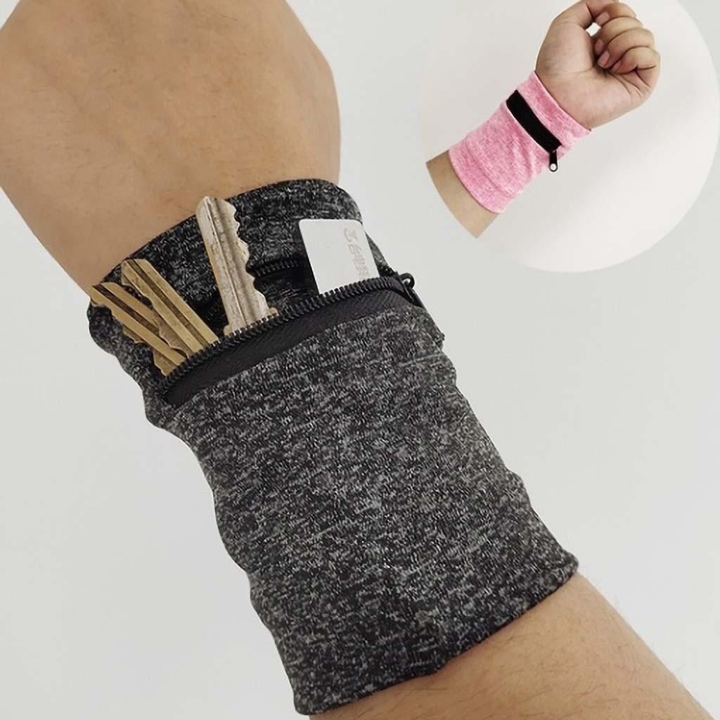 Men Women Wrist Wallet Pouch Band Multifunctional Wrist Running Travel Sports Gym Cycling Safe Bag Wrist Strap Wallet @C15