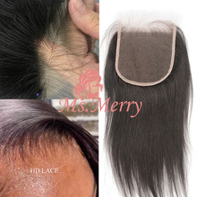 Lace Striaght Human-Hair Ms.merry with Closure Hair-Extension Brazilian Raw Virgin HD
