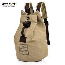 Холщовые рюкзаки мужская сумка рюкзак школьные ранцы унисекс