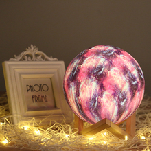 Moon Light 3D Print Globe Lamps, Glowing Lamp With Stand, Luna Night for Children Christmas Gifts