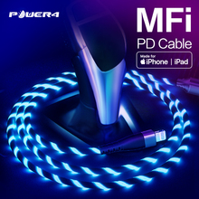 "Power4 MFi USB C כדי ברקים כבל 18W פ""ד אפל מוסמך מהיר מטען עבור iPhone11 פרו מקסימום X XS 8 XR iPad Macbook סוג C כבל"