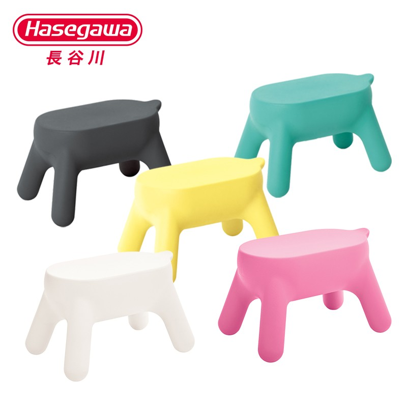 Hasegawa Kids Cartoon Step Stools Multifunctional Step Ladder Kids Colorful Short Professional Stools Resin Safety PE