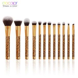 Image 1 - Docolor 12Pcs Makeup Brushes Cosmetic Powder Foundation Eyeshadow Make Up Brushes Set Hair Synthetic Makeup Brush
