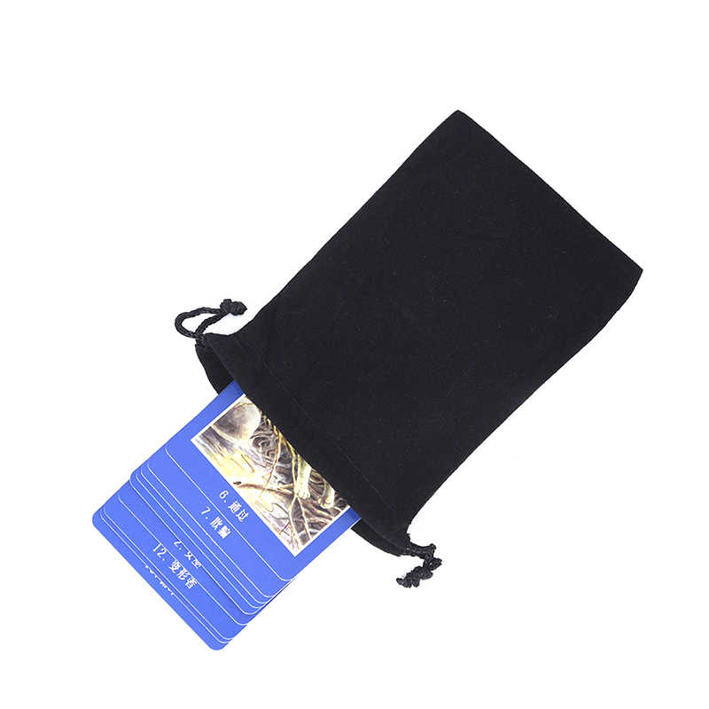 Zwart Tarot Card Sluiten Flanel Opbergtas Tafel Game Accessoires Kaart Opbergtas Trekkoord Tassen Tarot Card Zakjes Verpakking