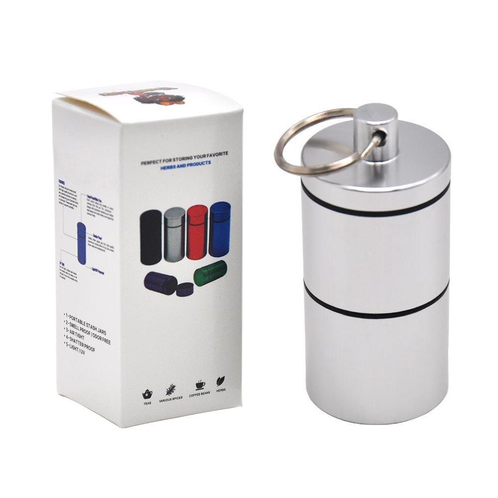 """HORNET Stash Jar-герметичный, устойчивый к запаху алюминиевый контейнер для специй с 2 слоями, чехол для табака """"вы можете собрать его самостоятельно"""" - Цвет: YH033-HP-Yin"""