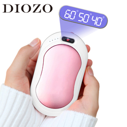 DIOZO Mini Hand Heater Electric Heaters Portable USB Rechargeable Winter Hand Warmer 2 IN 1 Hands Heater Power Bank Heating Pad