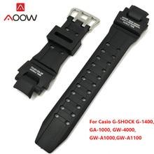 Силиконовый ремешок для Casio G-Shock GA-1000 /1100 GW-4000 /A1100 G-1400 Sport Waterproof PU запасной ремешок аксессуары для часов