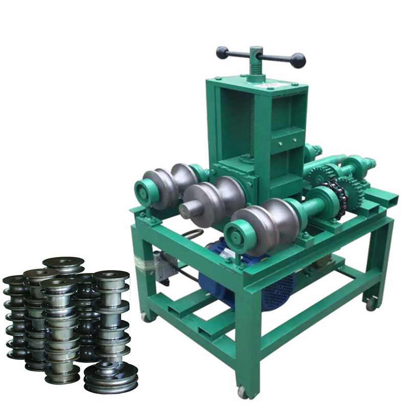 Rolling Pipe Bending Machine Electric With Round Dies And Square Dies HHW-G76 Pipe Tube Roller Bender 220V/380V