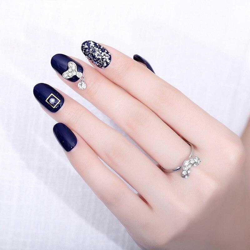 Купить 24 шт накладные ногти полное покрытие короткий круглый пресс