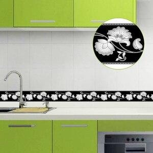 Самоклеящаяся водостойкая панель 5 м для гостиной, ванной, кухни, плитка, настенные наклейки, современные обои, границы
