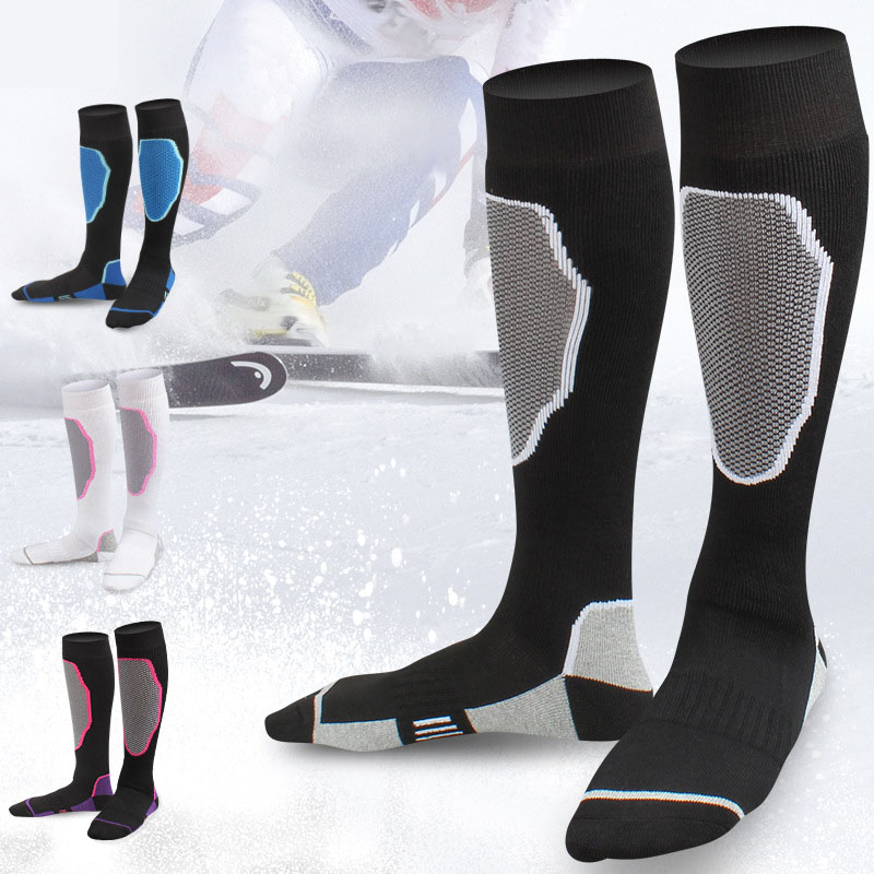 Sport Ski Socks for Men & Women Athletic Fitness Outdoor Hiking Mountaineering Roller Skate Thick Breathable Compression Socks