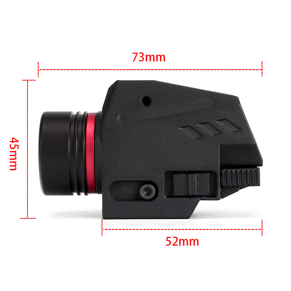 Tactical LED Weapon Gen Light Flashlight Red Dot Laser Sight Military Airsoft Pistol Gun Light for 20mm Rail Mini Pistol Gen-4