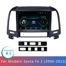 9in Android 9.1 Car Radio Multimedia Vdeo Player For Santa Fe 2 2006-2012 2 Din Din