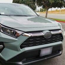 цена на For Toyota Rav4 Hybrid XA50 2019 2020 ABS Chrome Front Center Mesh Grille Cover Radiator Strip Trim Car Styling Accessories