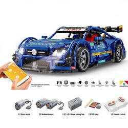 Neue Heiße 1989Pcs 1:8 MOC 2,4G DIY Montage Sport Auto Baustein Construction Kit Mit Fernbedienung APP modi