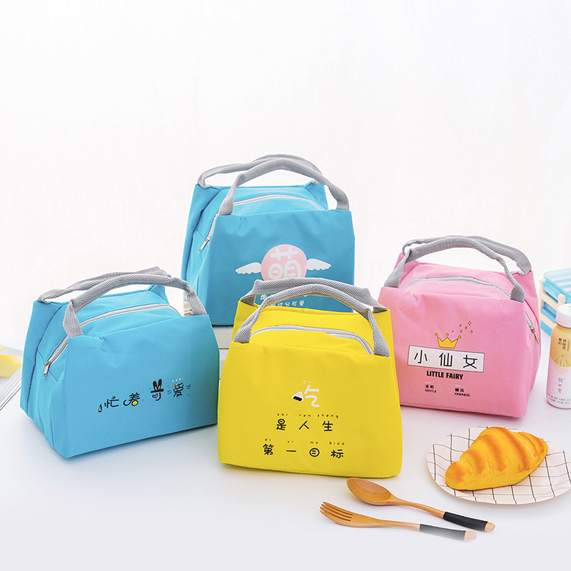 Cartoon Portable Lunch Bag Children's Snack Bento Picnic Box School Food Insulated Tote Container Thermal Organizer Pouch Item