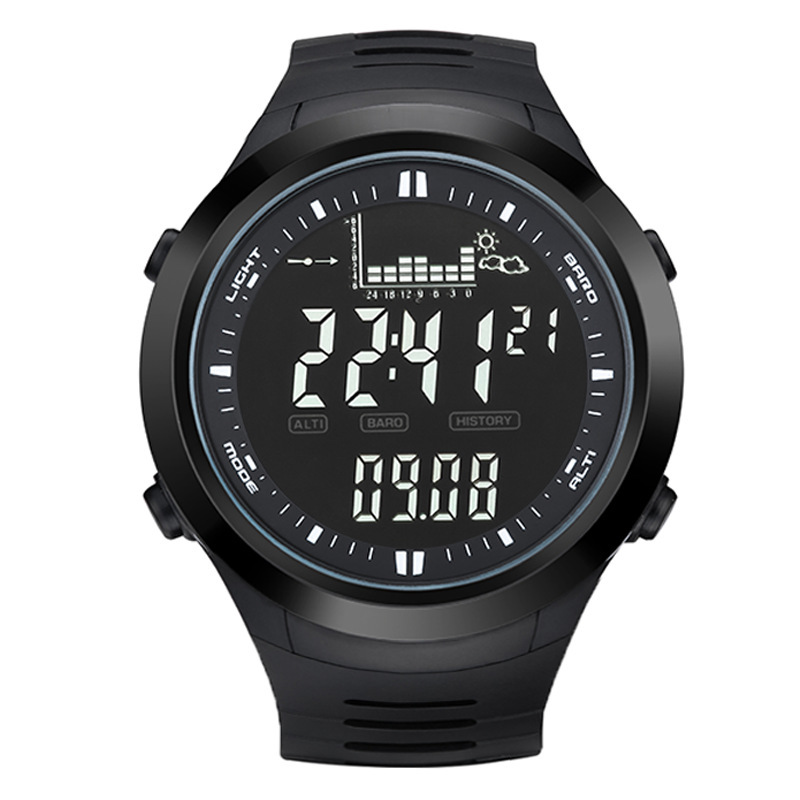 Outdoor Electronic Fishing Barometer Mountaineering Wrist Watches Noctilucent Waterproof Smart Reminder Above Sea Level