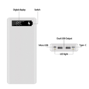 Image 4 - 5V Dual USB 8*18650 Power Bank Case With Digital Display Screen Mobile Phone Charger DIY Shell 18650 battery Holder Charging Box