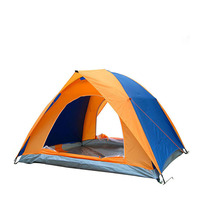 1 3 Person ultralight tent Double layer water resistance Double door Camping and recreational rain shelter Outdoor tent Portable