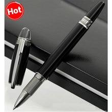 Mon – stylo à bille en résine noire, accessoire de luxe, en diamant Blanc, pour écriture, Kawaii, fournitures de bureau
