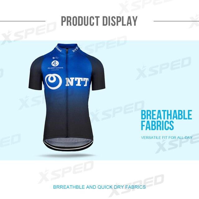 Homme Pro équipe cyclisme vêtements NTT 2020 maillot ensemble nouveau vélo costume été Triathlon course uniforme vtt chemise Kit séchage rapide respirant
