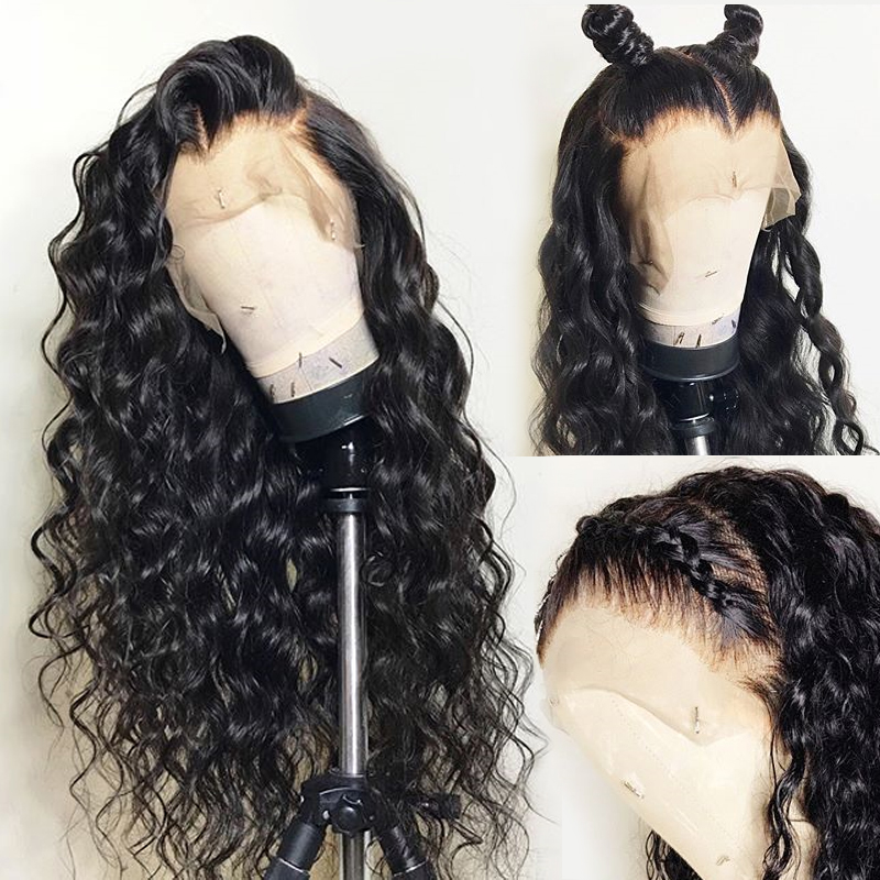 Water Wave Wig 13x4 Lace Front Human Hair Wigs pre plucked For Black Women GEM Brazilian