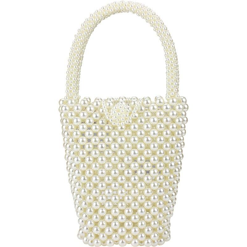 Brand Hot Sell Fashion Design Handmade Pearl Woven Bag Luxury Crossbody Handbag Beaded Shoulder