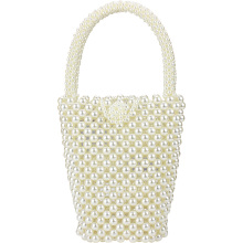 Brand Hot Sell Fashion Design Handmade Pearl Woven Bag Luxury Crossbody Handbag Beaded Shoulder